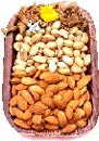 Dry fruits Basket as gifts  to Chennai.Exotic dried fruits in a cane Basket for only Chennai delivery.You can send this gift on Mothers day ,Fathers Day,Diwali ,New years,Christmas,Valentines day and as Birthday,Anniversary gifts to Chennai.This Dry Fruit Basket is decorated with Flowers which is suitable to send for delivery as all purpose gifts to Chennai.