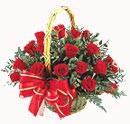 24 Red Rose Basket