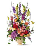 Exotic Mixed Flowers in Vase