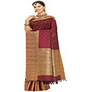 Maroon Kanjivaram Saree with Heavy Embroider