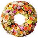 Large wreath with mixed flowers