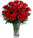 Valentines Day Gifts with 24 Red Roses in a Vase to Chennai Delivery