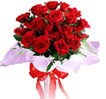 24 Red dutch roses Bouquet for all Chennai and rest of Tamilnadu delivery