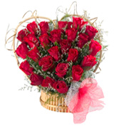 send flowers with 24 Red Rose flowers in a Heart Shape for Chennai delivery