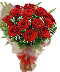 12 Red Rose Flower Bouquet to Chennai Delivery