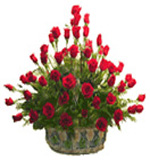 Flower Basket of 50 Roses to Chennai Delivery