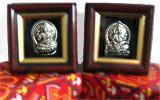 Gifts on Mothers Day with Silver Laxmi and Ganesha photo in frame