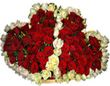 Two heart shape Roses arrangement for Chennai delivery only