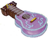 Send Cakes with 3Kg Guitar Shape Cake for Chennai Delivery.