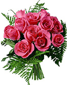 Congratulations with 12 Pink Roses Bouquet to Chennai Delivery
