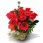 Send 15 Red Roses Flowers in Vase to chennai Delivery.