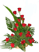 18 Red Roses Flowers Basket to Chennai Delivery