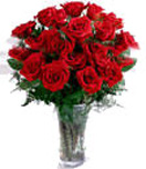 24 Red Rose Flowers in Vase For Chennai Delivery