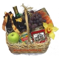 Gift Baskets with Fruit wine, chips, cookies, chocolates, fresh fruits, dry fruits and lot more to Chennai Delivery