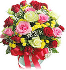 Wedding Gifts with 30 Mixed Roses in a Vase to Chennai Delivery