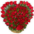 Heart Shape Basket  of 50 Red Roses for Wedding Gifts to Chennai Delivery