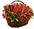 Id Ul Fitri with 100 Red Roses in a Basket to Chennai Delivery