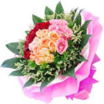 50 Mixed Roses Flowers Bouquet For Chennai Delivery