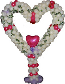 Balloon Decoration with 7ft. Heart Shape Stand Arrangement to Chennai Delivery