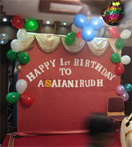 Balloon Decoration with Birthday Banner with letters and Balloon Spray[ 100 Balloons] to Chennai Delivery