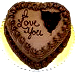 Heart shape Chocolate truffle cake to Chennai Delivery