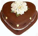 Heart shape Chocolate cake to Chennai Delivery