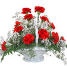 Pongal Gift with 12 Red Carnation Basket to Chennai Delivery
