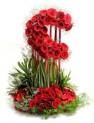 Send 50 Red Roses Designer Basket for Chennai Delivery.