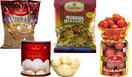 Diwali Gifts with 1Kg.Ragulla,1Kg.GulabJamun,  1/2Kg. Bhujia ,1/2Kg. Mixture with free Diyas to Chennai Delivery