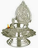 Diwali Gifts with Silver Diya 12Gms. to Chennai Delivery