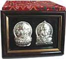 Diwali Gifts with Silver Plated Lakshmi-Ganesha to Chennai Delivery
