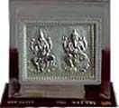 Diwali Gifts with Silver Plated Lakshmi-Ganesha  in moulded frame to Chennai Delivery
