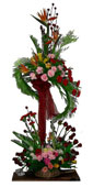 5ft.Two step Exotic Mixed Flowers Arrangement to Chennai delivery