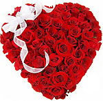 Valentines Day Gift with 45 Red Roses Heart to Chennai Delivery