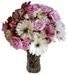 Anniversary Gifts with Pink Rose Gerbera Flowers in a Vase to Chennai Delivery