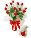 Combo Gifts with 12 Red Roses with Teddy to Chennai Delivery