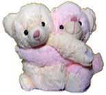 Valentines Gift to Chennai with Hugging Teddy Bears