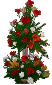 3ft Two step Exotic Flowers Arrangement to Chennai delivery