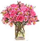 Pongal Gift with 18 Pink Rose in a Vase to Chennai Delivery