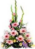 Anniversary Gifts with Big Arrangement with  Gerberas and glads and roses Flowers to Chennai Delivery
