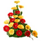 Pongal Gift with 20 Red-Yellow Gerbera Basket to Chennai Delivery
