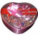 Congratulation gifts with Heart  shape chocolate box Nestle to Chennai Delivery