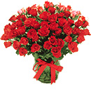 Valentines Day Gift with 50 Red Roses Bouquet to Chennai Delivery