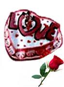 Valentines Day Gift with Heart shape Chocolate Cake with free single rose to Chennai Delivery