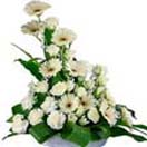 White Condolence flower Basket to Chennai Delivery