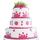 Anniversary Gifts with Three Tier Wedding Cake to Chennai Delivery