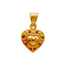 Congratulations with Heart Shaped 22 K Gold Pendant Oyzterbay/Tanishq/Intergold/Anjali to Chennai Delivery