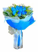 12 Blue Rose Flowers Bouquet to Chennai Delivery