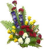 Send Mixed Flower Basket with Cadbury Chocolates to Chennai Delivery.
