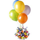 Combo Gifts with Flowers Basket with Balloons to Chennai Delivery